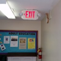 Exit Sign Installation