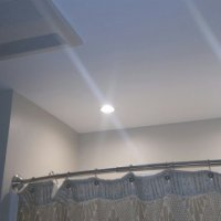 Recessed Shower Lights and Combination Heat/Exhaust Fan